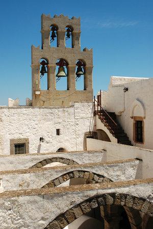 evangelist: PATMOS, GREECE - JUNE 13, 2005: Saint John the Evangelist monastery at Patmos Island