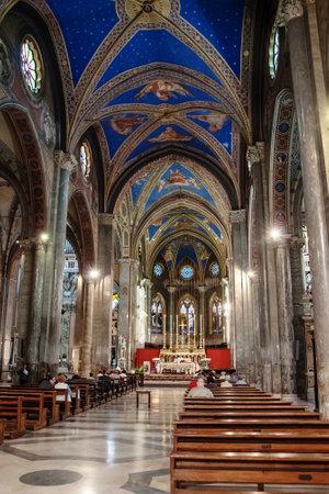 minerva: ROME, ITALY - MAY 12, 2012: Interior view of the Church of Santa Maria Minerva Editorial