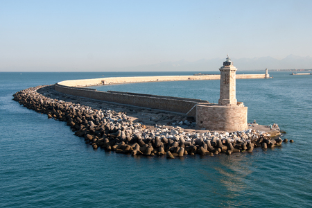 livorno: LIVORNO, ITALY, AUGUST 27, 2016: Lighthouse at the port