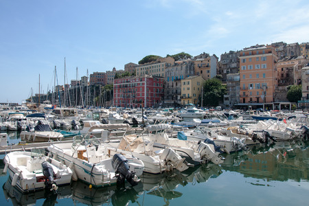 BASTIA, CORSICA, FRANCE, SEPTEMBER 03, 2016: the yachts in the old port