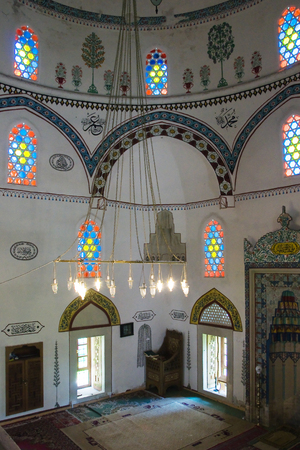 MOSTAR, BOSNIA AND HERZEGOVINA, MAY 12, 2010: Inside the Koski Mehmed Pasha Mosque