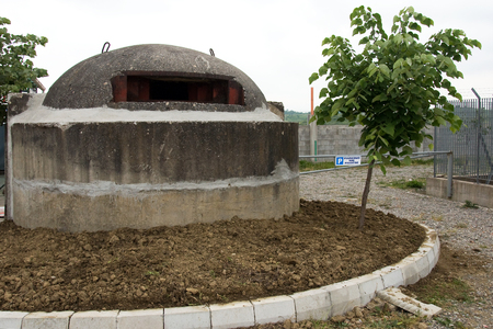 Bunker in Albania built during Hoxhas rule to avert possible external invasion. Over 600,000 of these bunkers were built