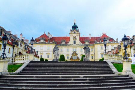 VALTICE, CZECH REPUBLIC, MAY 13, 2017: Baroque castle Valtice, Lednice-Valtice Cultural Landscape (UNESCO national cultural landmark) Editorial