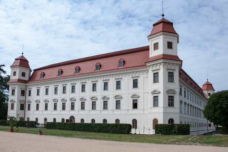 The Early Baroque Chateau Building in Holesov, Moravia, Czech Republic Редакционное