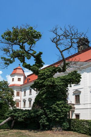 HOLESOV, CZECH REPUBLIC, JUNE 16, 2018 - Chateau park of Early Baroque Chateau in Holesov, Moravia