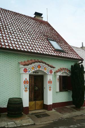 Wine cellar in South Moravian village, Czech Republic Фото со стока
