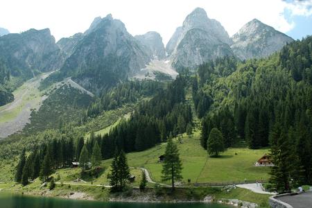 Landscape under the Dachstein mountain at Lake Gosau, Austria