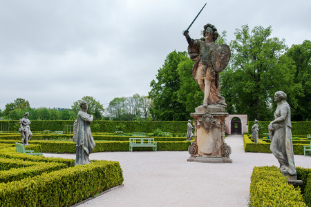 Garden behind the Kuks hospital with many statues by the famous sculptor Matthias Braun from 1712-1731