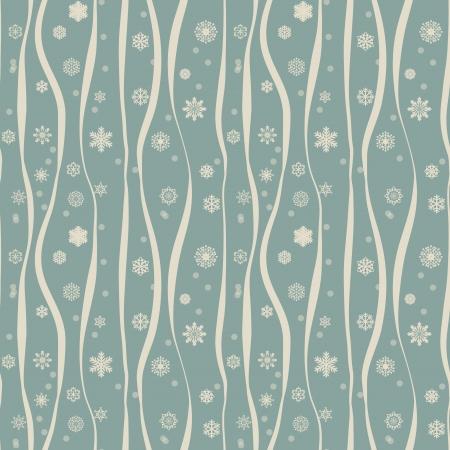 Christmas seamless with decorative snowflakes