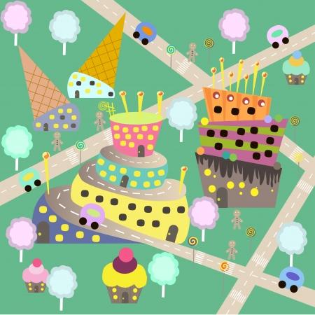candy floss: children sweet town