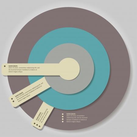 Modern vector infographics options banner