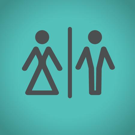 man and woman sex: туалет и туалет иконки знак, векторные иллюстрации