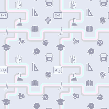 education seamless and school pattern, vector illustration Vector