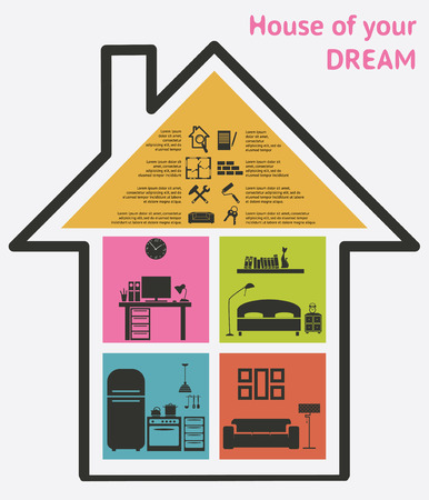 House and real estate icons vector illustration
