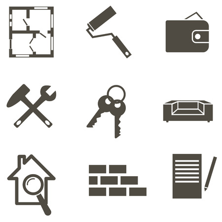 Real estate icon set  vector illustration