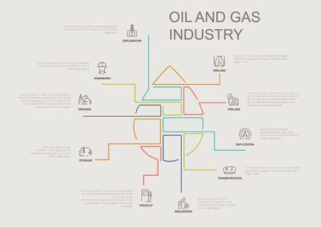 oil and gas industry infographic vector illustration parts of drop
