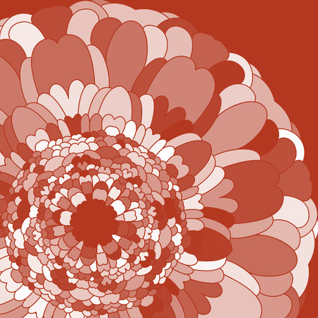 terracotta: simple flower terracotta color in graphic style Illustration