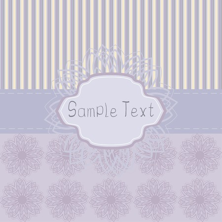 bourgeon: Double set of vintage patterns. Stripes and decorative flowers. Frame for your text Illustration