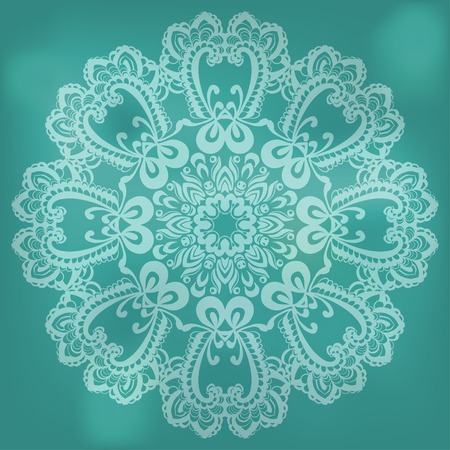 celadon: abstract pattern with lace on celadon background