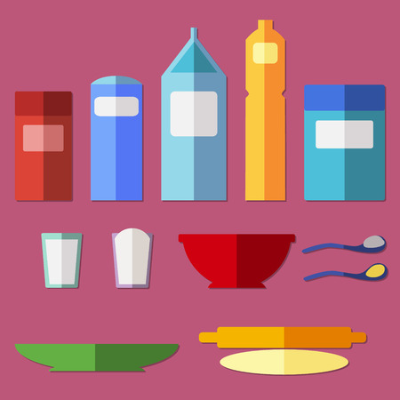 battledore: Set of kitchen utensils.