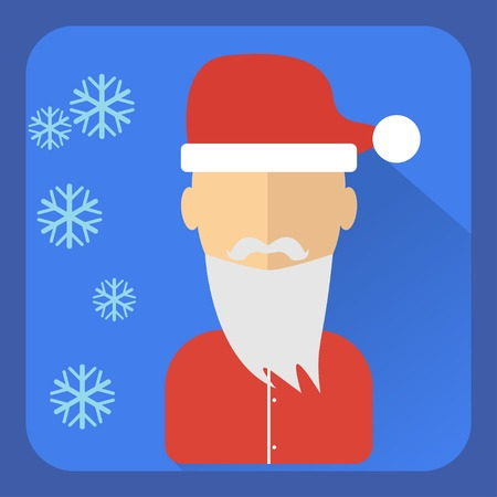 pompon: Flat avatar Character in a Christmas cap