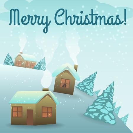 Christmas Card. Early Christmas Morning, Village Houses, The ...