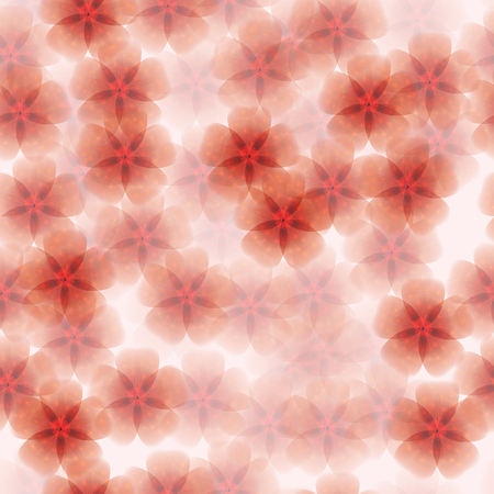 translucent red: Floral  seamless background with translucent red flowers