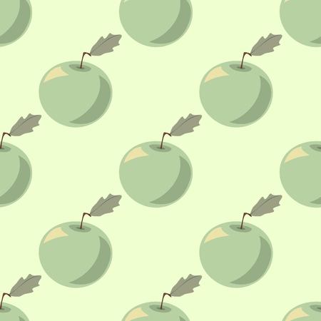 pastel shades: Halftone apples in pastel shades, seamless pattern, vector illustration Illustration