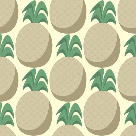 pastel shades: Halftone pineapples in pastel shades, seamless pattern, vector illustration