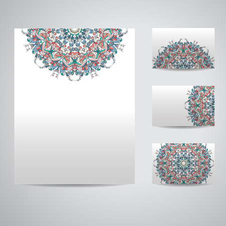mould: Set of blank templates.  Business cards and letterhead paper