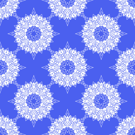 patterning: seamless pattern of snowflakes. Vector illustration