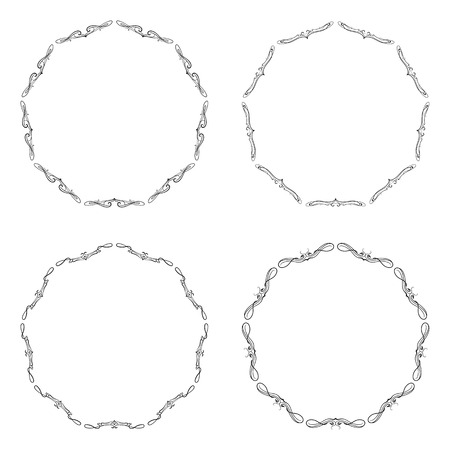 Frame, lace ornament, round ornamental natural doily pattern