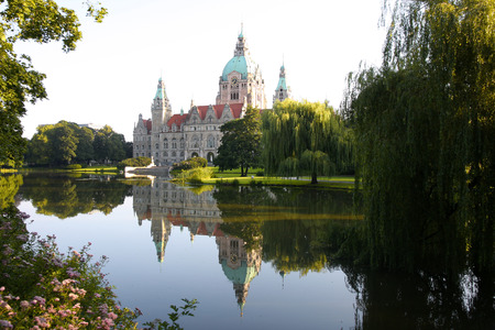 The New Town City Hall, Rathaus in Hannover, Germany