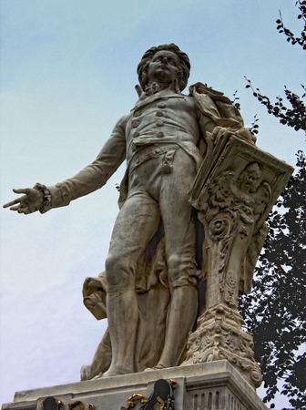 amadeus mozart: Wolfgang Amadeus Mozart statue in Vienna, Austria Editorial