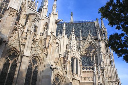 votive: detail of Votive Church, Vienna, Austria Stock Photo