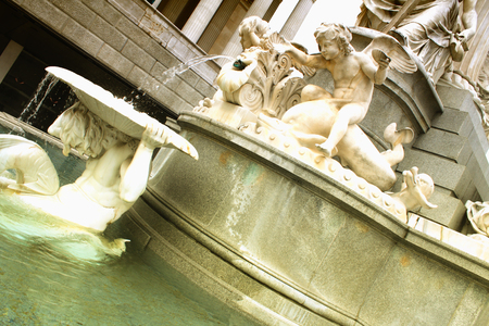 majestic: Vienna parliament, one detail on fountain