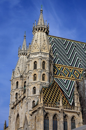 stephen: detail of architecture on st. Stephen cathedral in Vienna, Austria Stock Photo