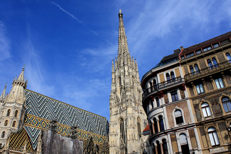 innere: stephansdom cathedral on stephansplatz in Vienna Austria;