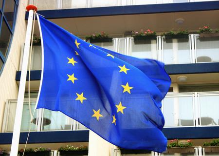 election commission: Waving EU flag on wind