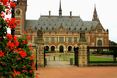 netherlandish: UN peace palace in Hague, Netherlands Editorial