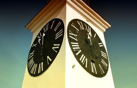 past midnight: The Big Clock Tower on  Petrovaradin fortress, Novi Sad, Serbia