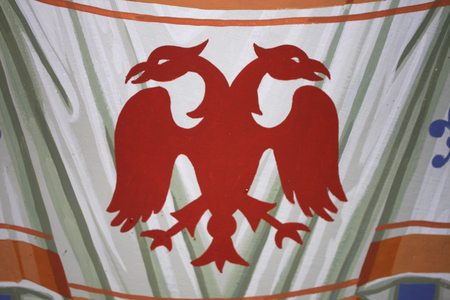 double headed eagle: Double Headed Eagle, common symbol in heraldry and vexillology. It is most commonly associated with Byzantine Empire.