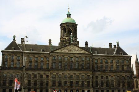 golden age: The Royal Palace on Dam Square in Amsterdam. Built as city hall during Dutch Golden Age in 17 century.
