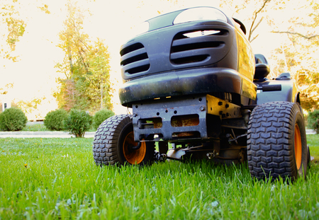 Lawn tractor Stock Photo