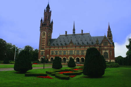 netherlandish: the Peace Palace, the building in The Hague. It is the seat of the International Court of Justice of UN Editorial