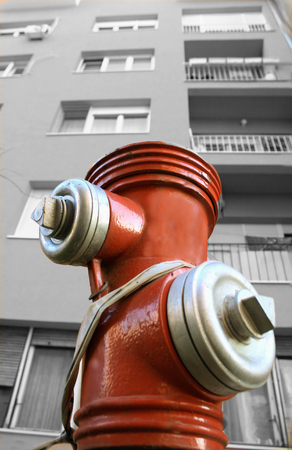 bw: Red Hydrant image in BW