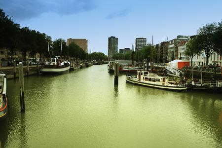 rotterdam: Rotterdam pier, Netherlands; Europe Stock Photo