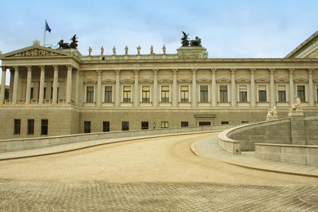innere: The Austrian Parliament in Vienna. Stock Photo