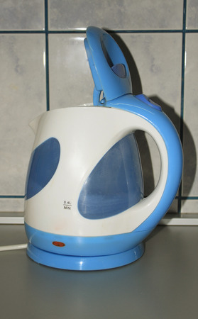 electric kettle: Close-up of an electric kettle in kitchen