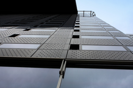 buliding: Modern office buliding with blue sky